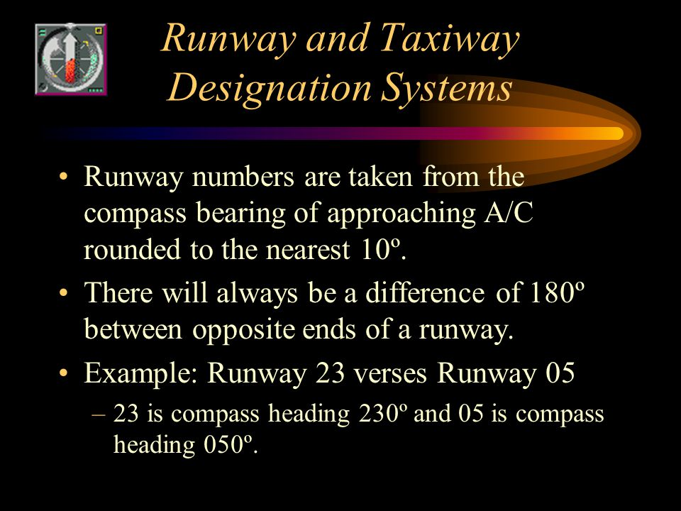 Runway and Taxiway Designation Systems