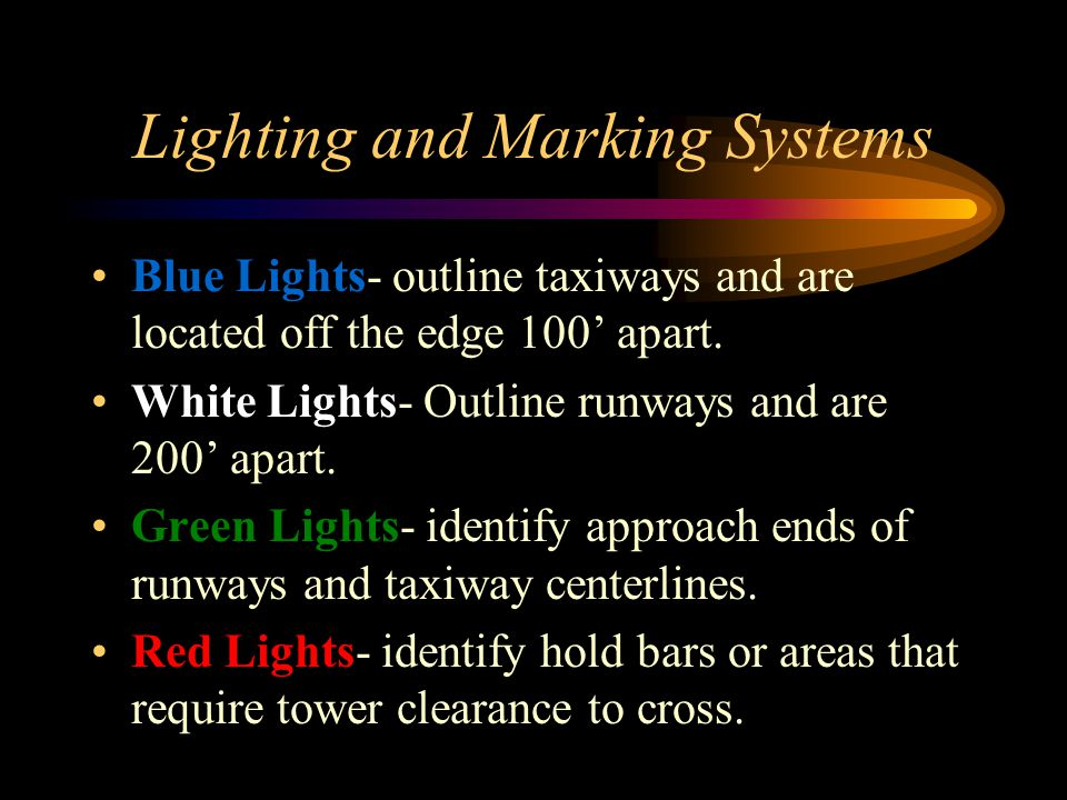 Lighting and Marking Systems
