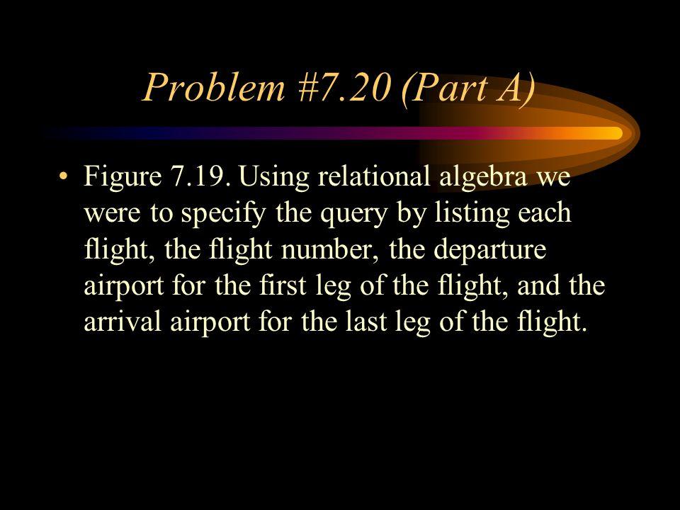 Problem #7.20 (Part A)