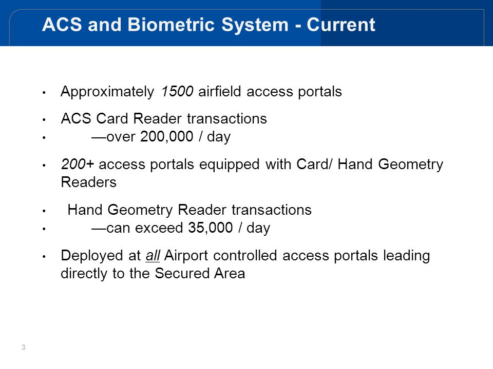ACS and Biometric System - Current