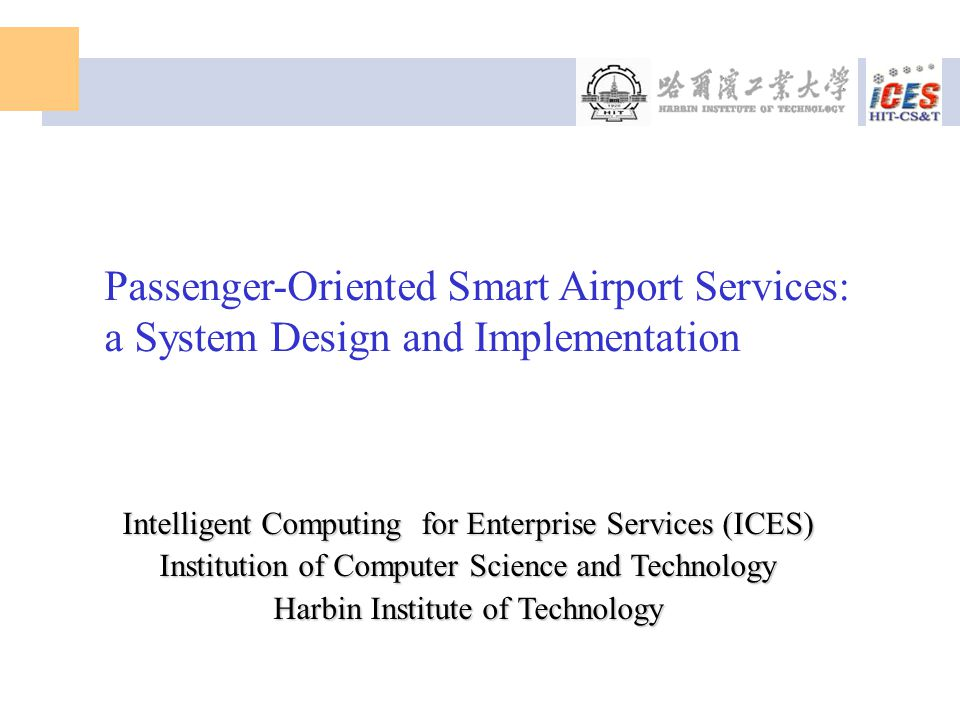 Passenger-Oriented Smart Airport Services: a System Design and Implementation