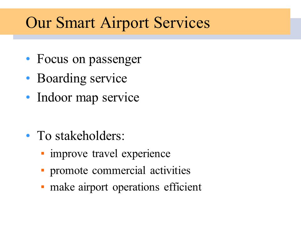 Our Smart Airport Services