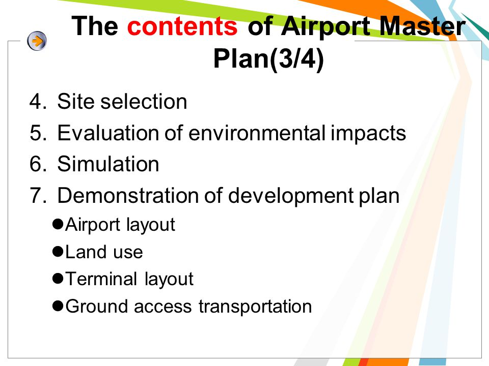 The contents of Airport Master Plan(3/4)