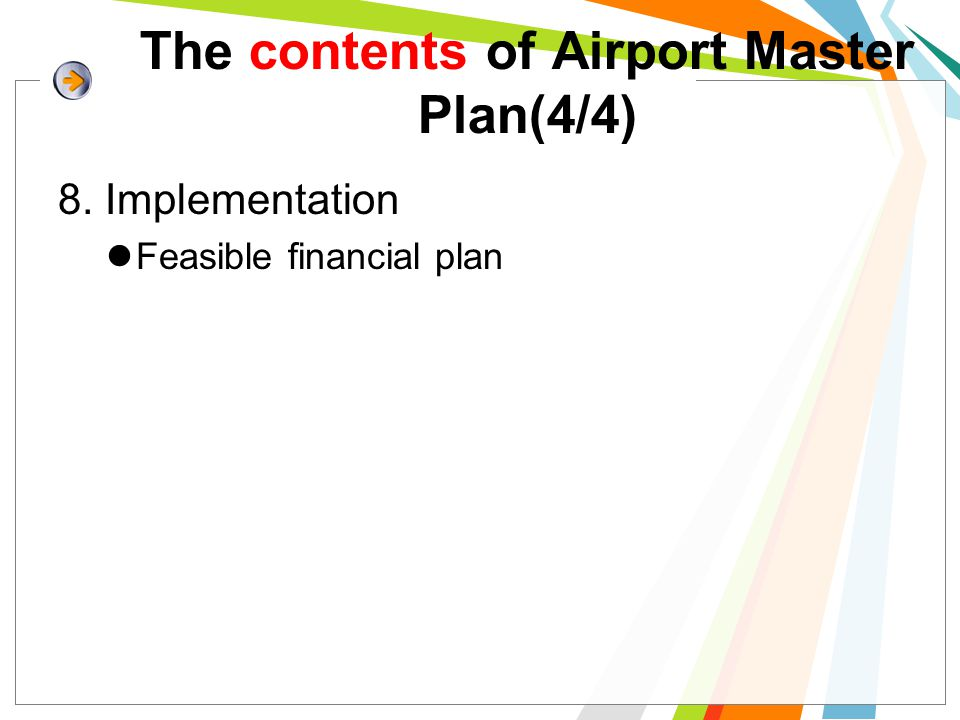 The contents of Airport Master Plan(4/4)