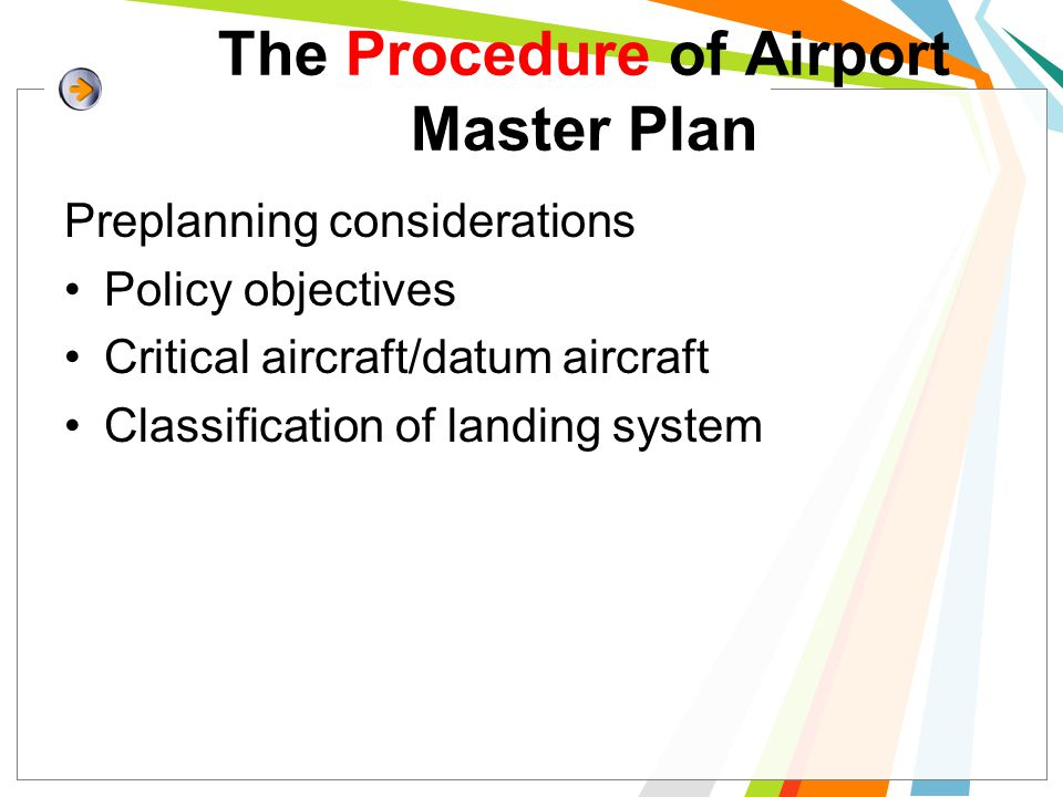The Procedure of Airport Master Plan