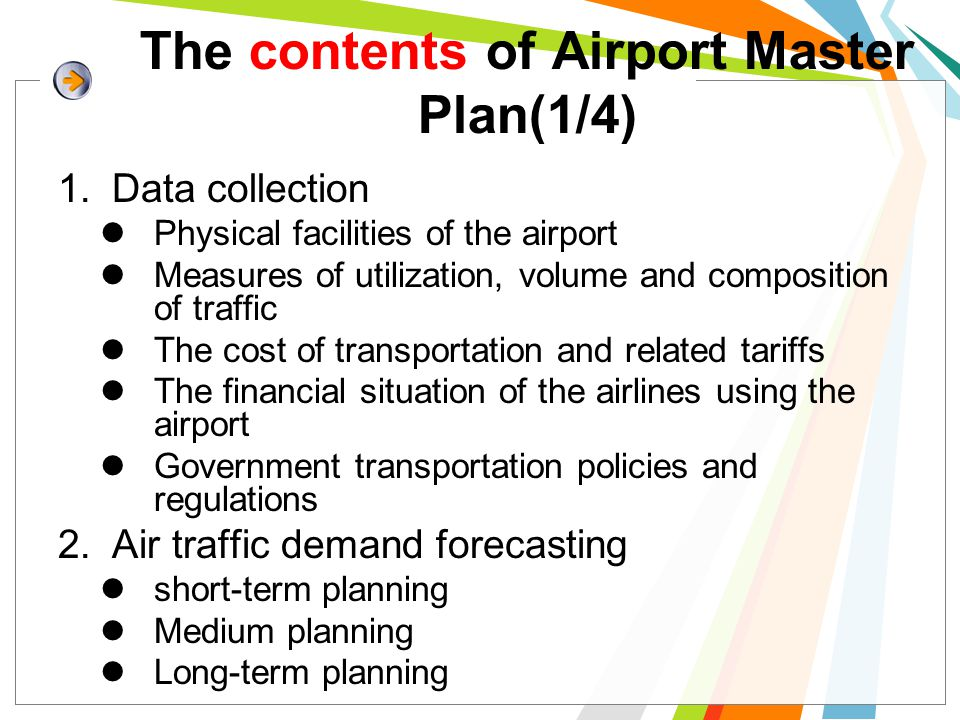 The contents of Airport Master Plan(1/4)