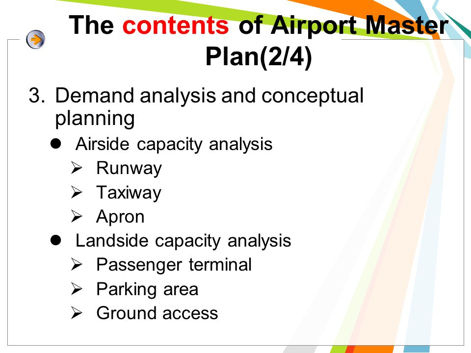 The contents of Airport Master Plan(2/4)