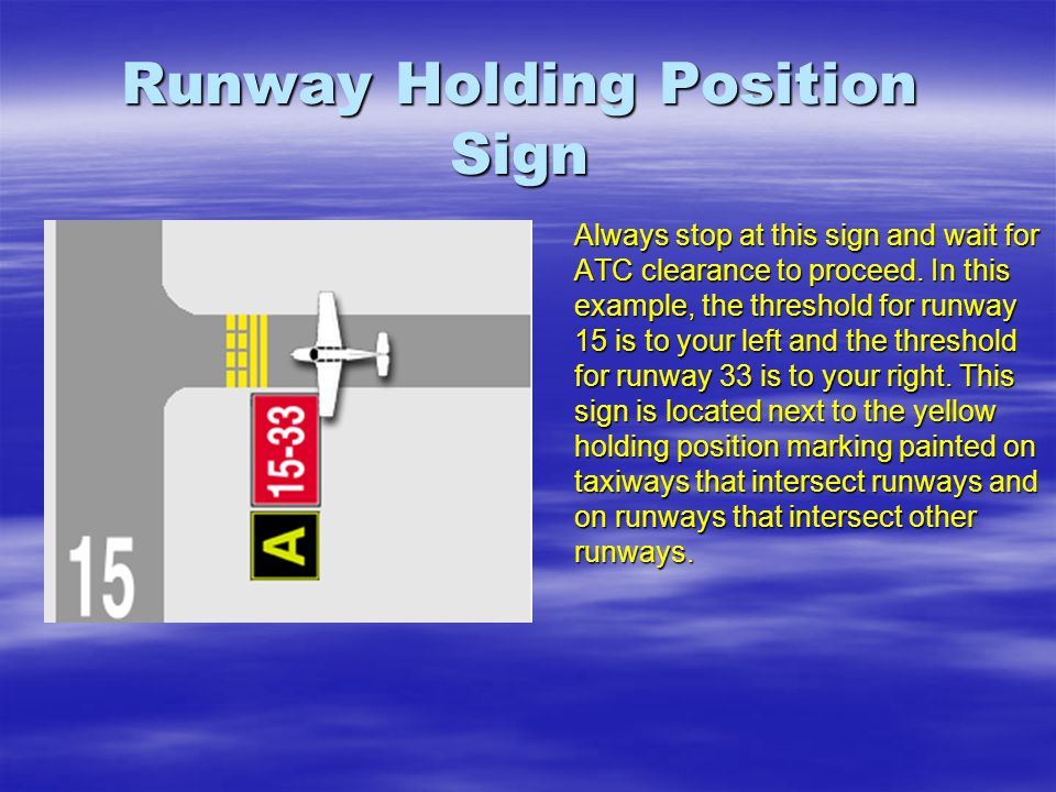 Runway Holding Position Sign