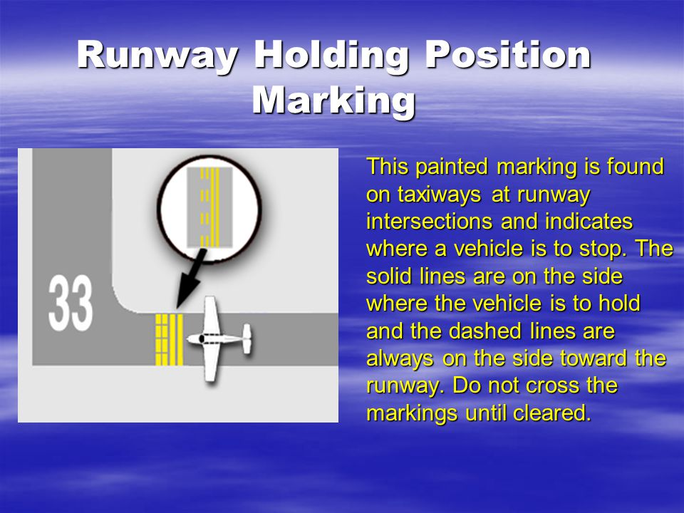 Runway Holding Position Marking