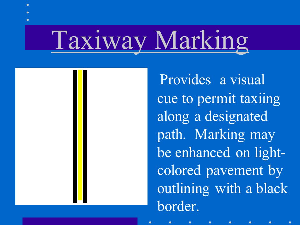 Taxiway Marking