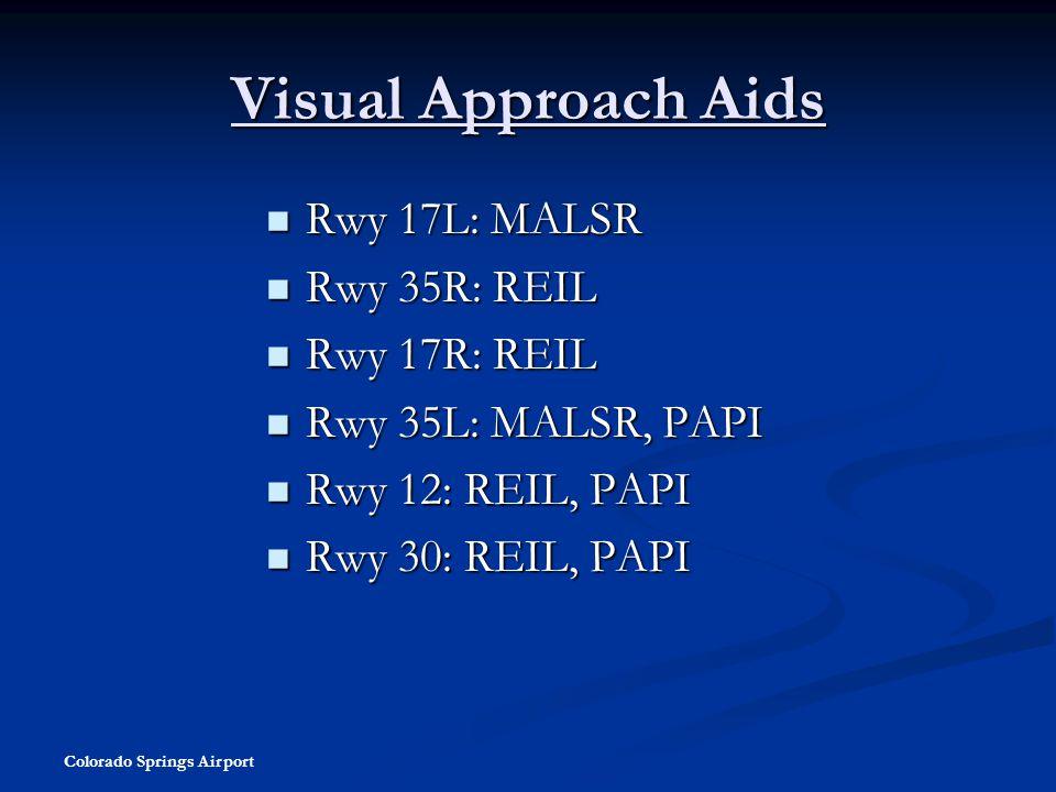 Visual Approach Aids Rwy 17L: MALSR Rwy 35R: REIL Rwy 17R: REIL