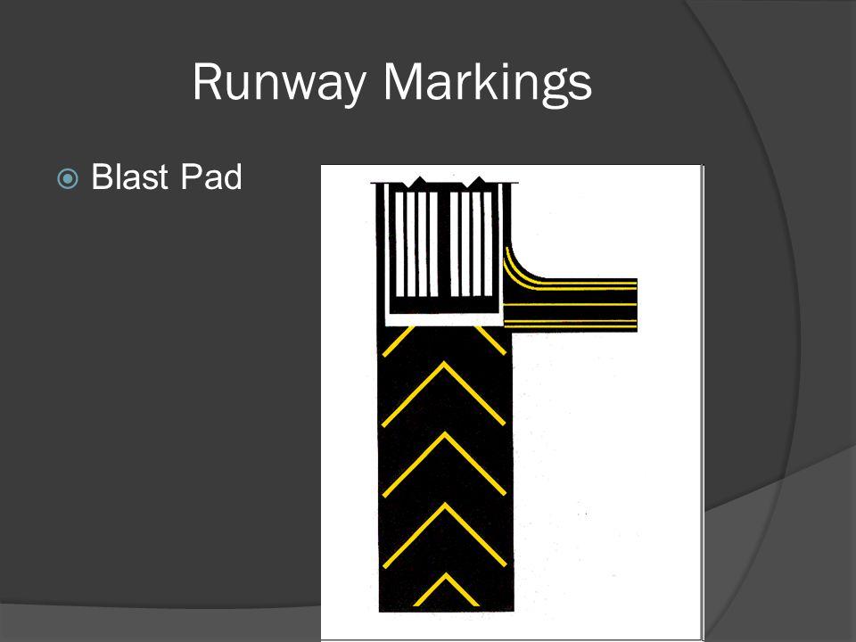 Runway Markings Blast Pad