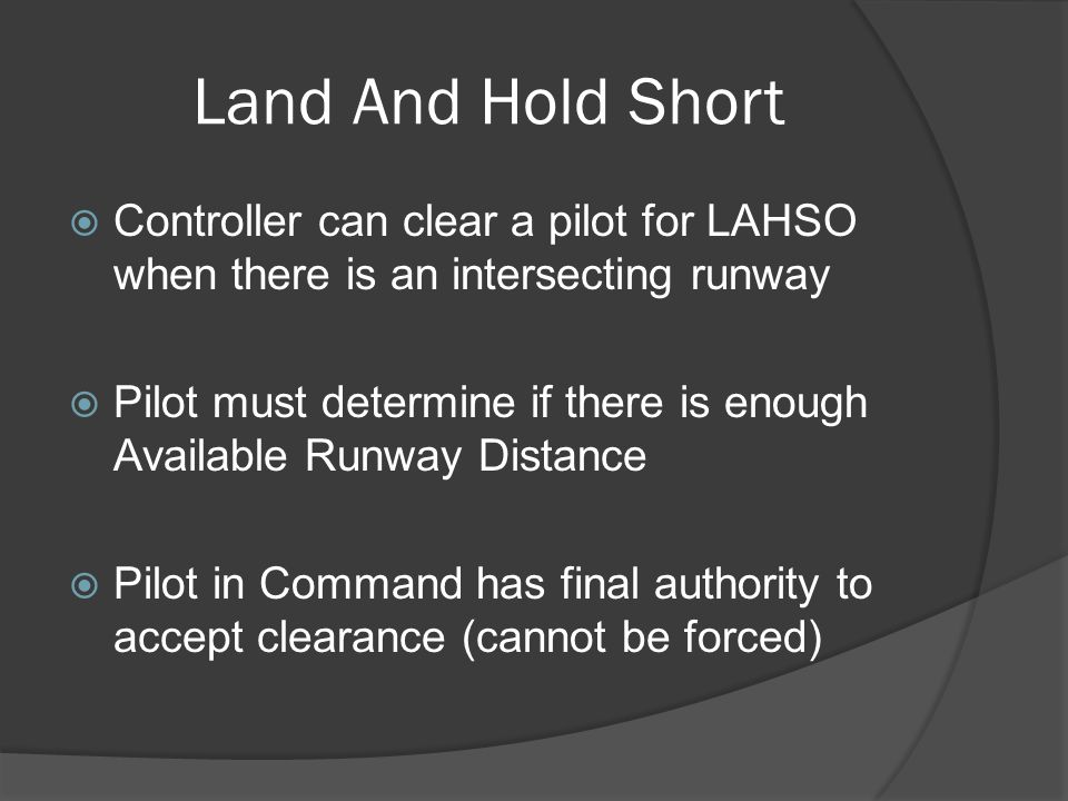 Land And Hold Short Controller can clear a pilot for LAHSO when there is an intersecting runway.