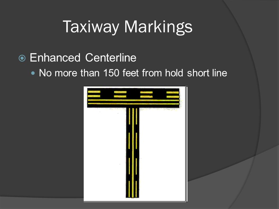 Taxiway Markings Enhanced Centerline