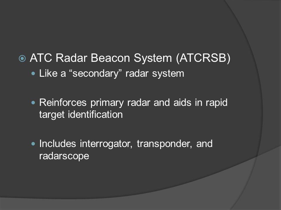 ATC Radar Beacon System (ATCRSB)