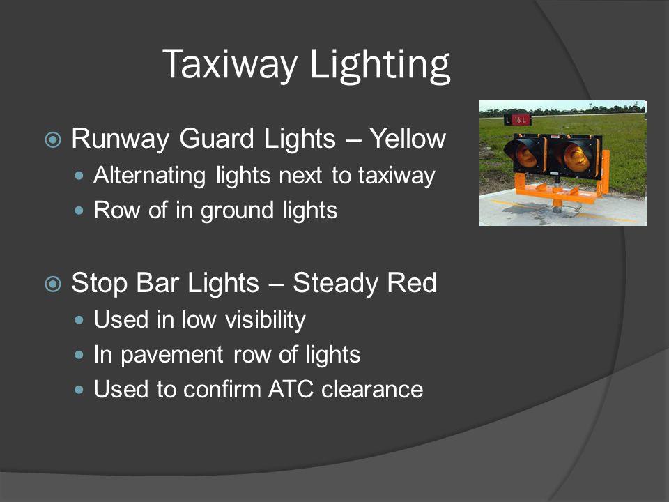 Taxiway Lighting Runway Guard Lights – Yellow