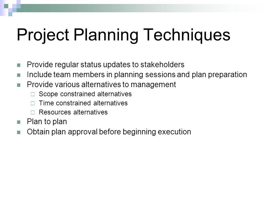 Project Planning Techniques