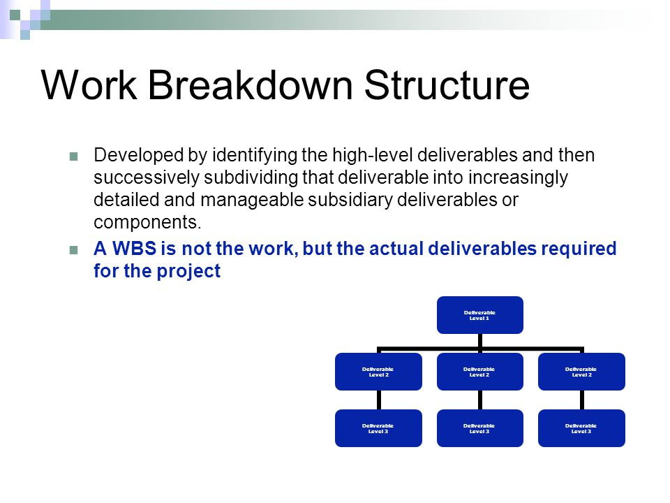 work breakdown structure Execution of work efforts this guide amplifies the event-based technical approach directed by mil-hdbk-881a work breakdown structure handbook.