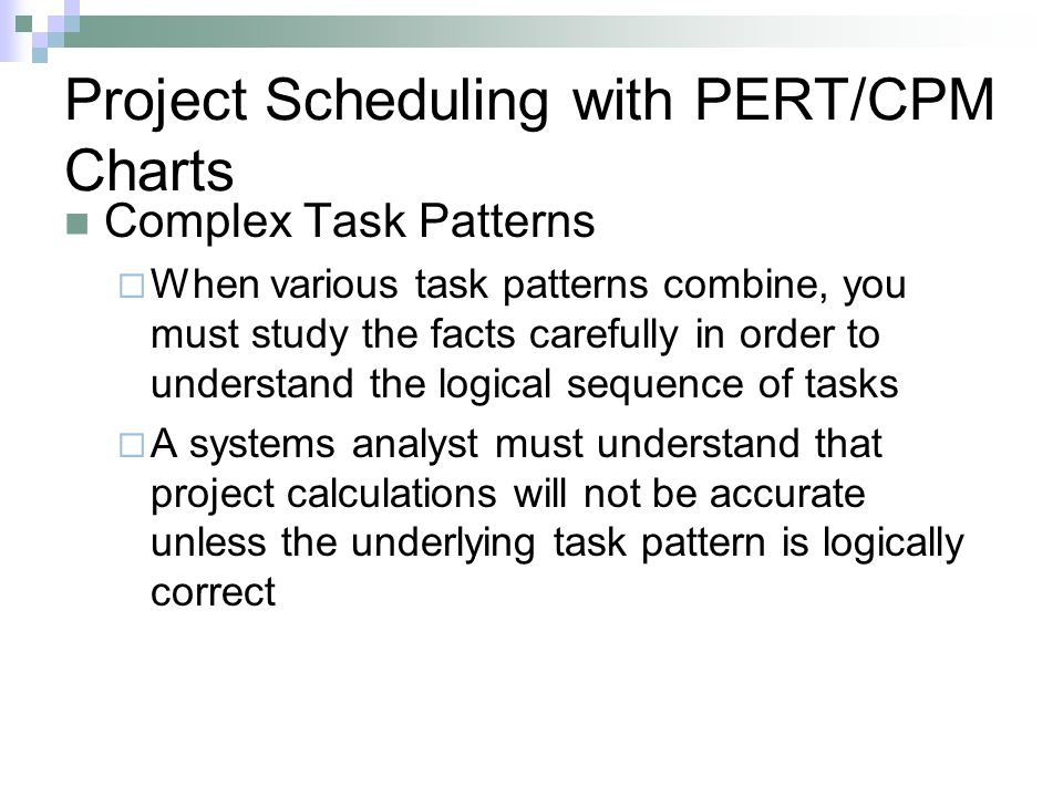 Project Scheduling with PERT/CPM Charts