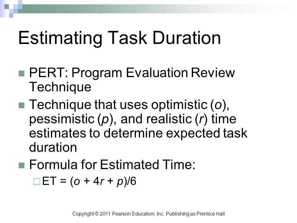 Estimating Task Duration