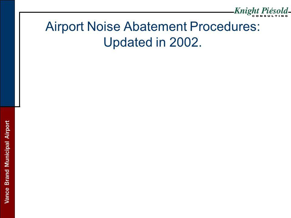 Airport Noise Abatement Procedures: Updated in 2002.