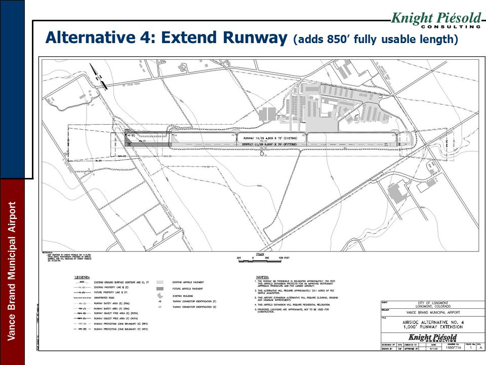 Alternative 4: Extend Runway (adds 850' fully usable length)