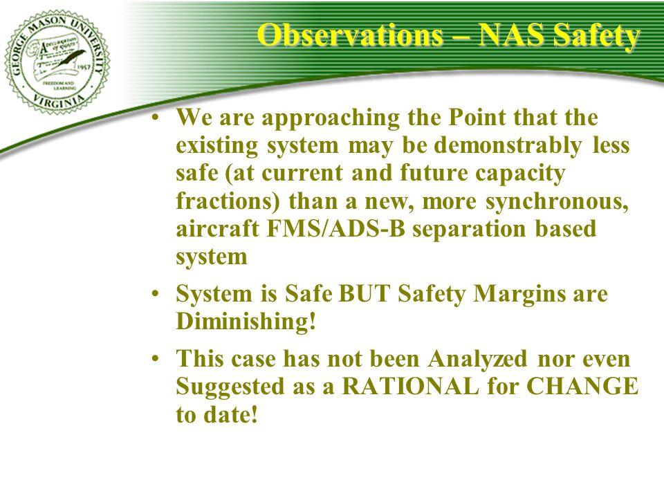 Observations – NAS Safety