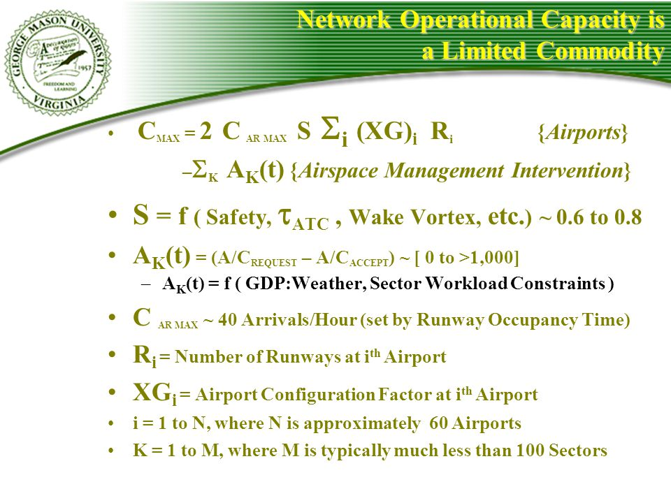 Network Operational Capacity is a Limited Commodity