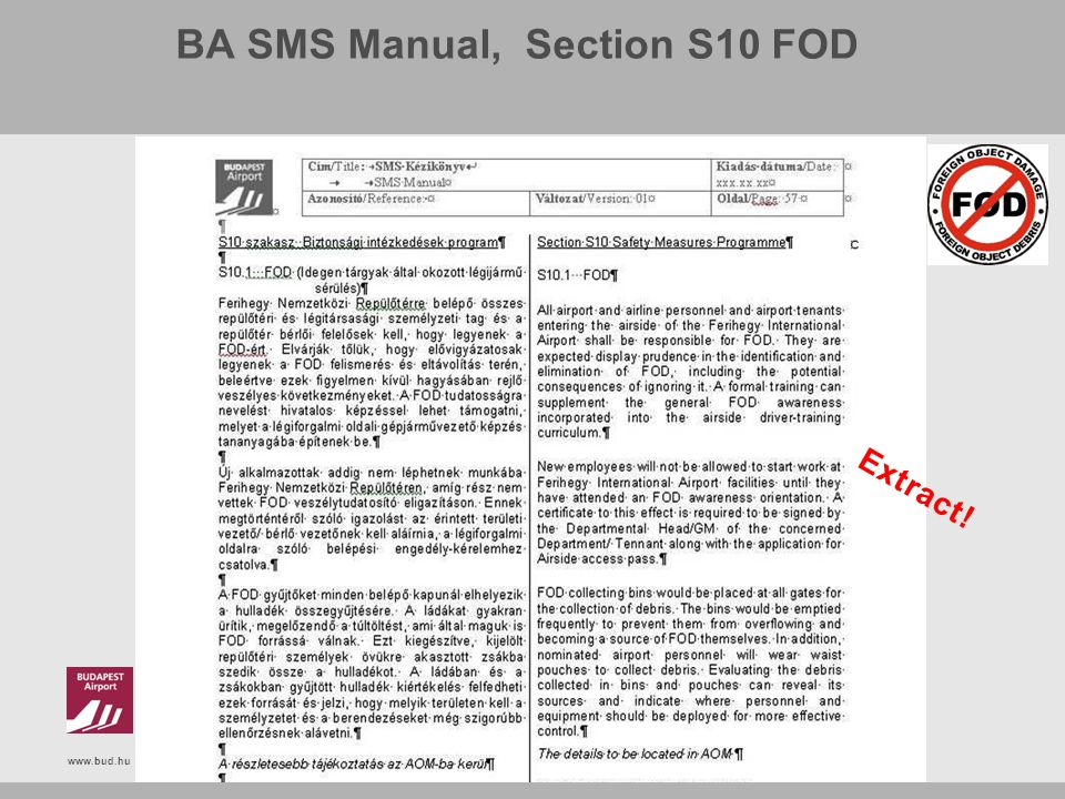 BA SMS Manual, Section S10 FOD