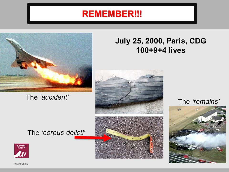 REMEMBER!!! July 25, 2000, Paris, CDG lives The 'accident'
