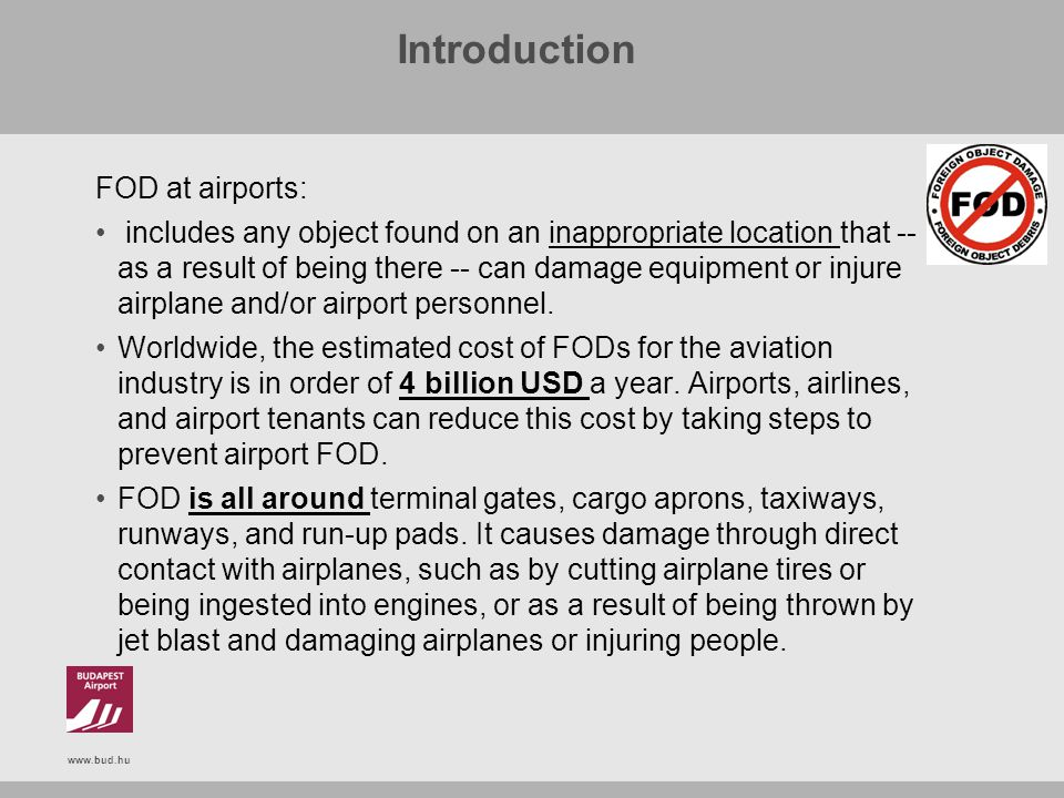 Introduction FOD at airports: