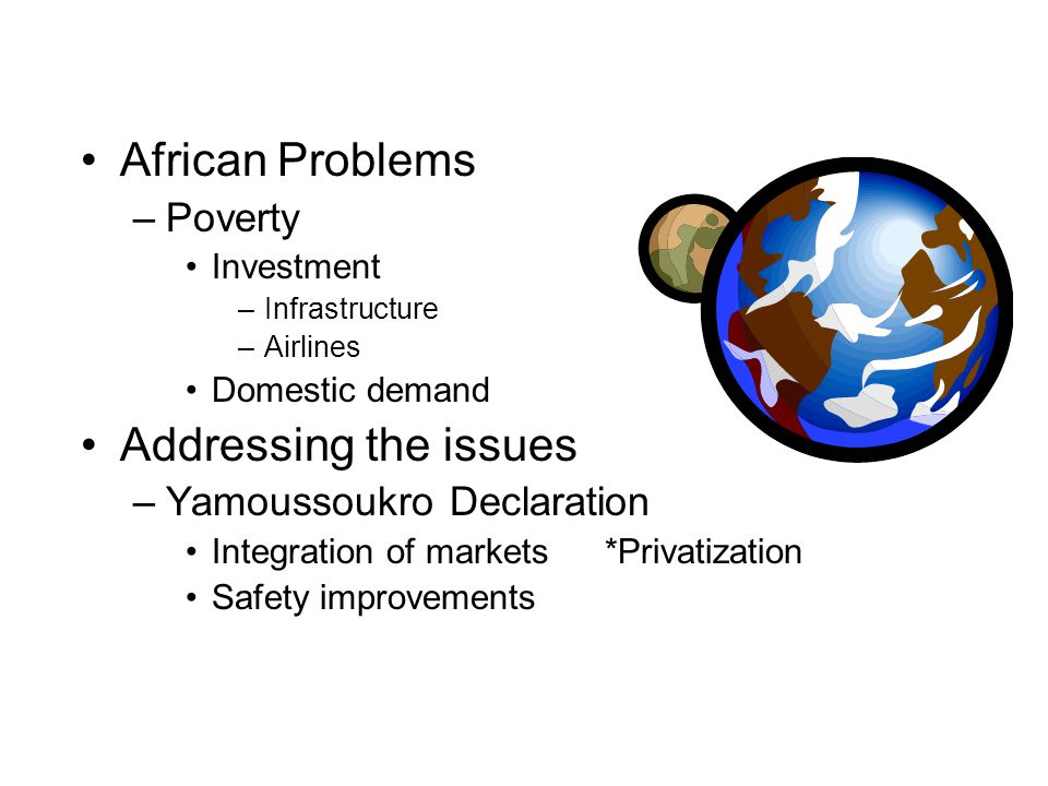 African Problems Addressing the issues Poverty
