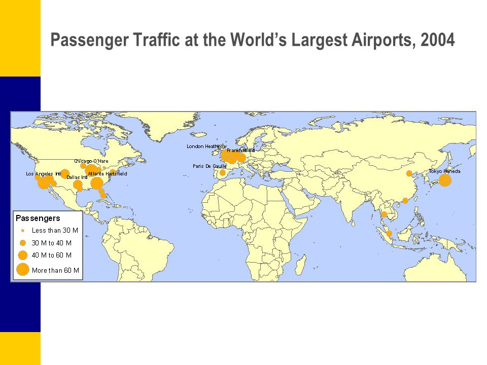 Passenger Traffic at the World's Largest Airports, 2004