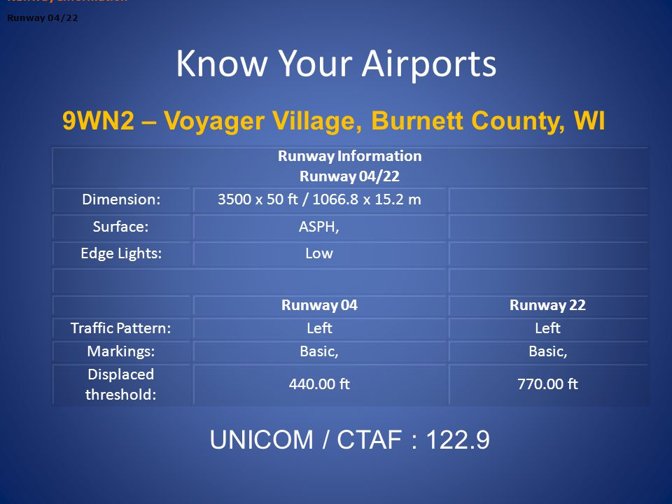 9WN2 – Voyager Village, Burnett County, WI