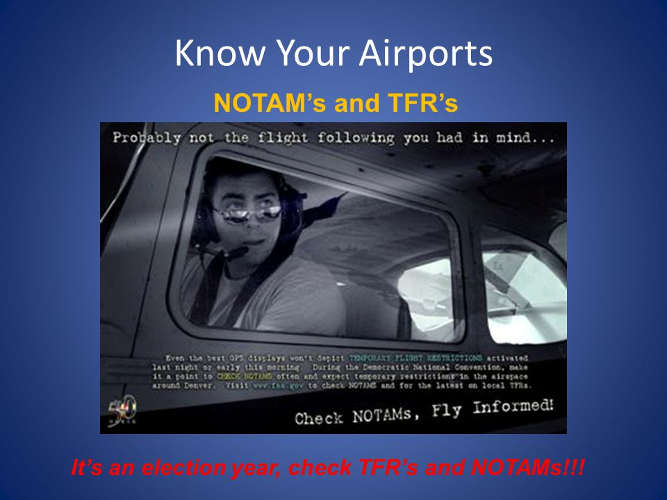 It's an election year, check TFR's and NOTAMs!!!