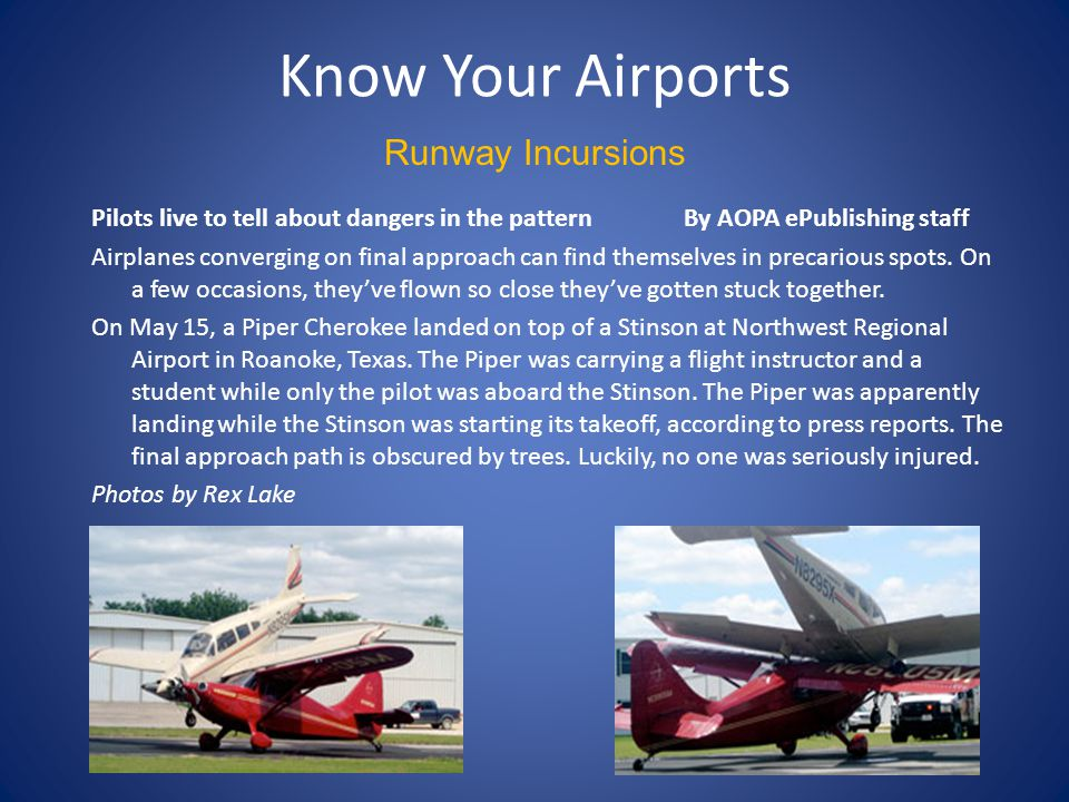 Know Your Airports Runway Incursions