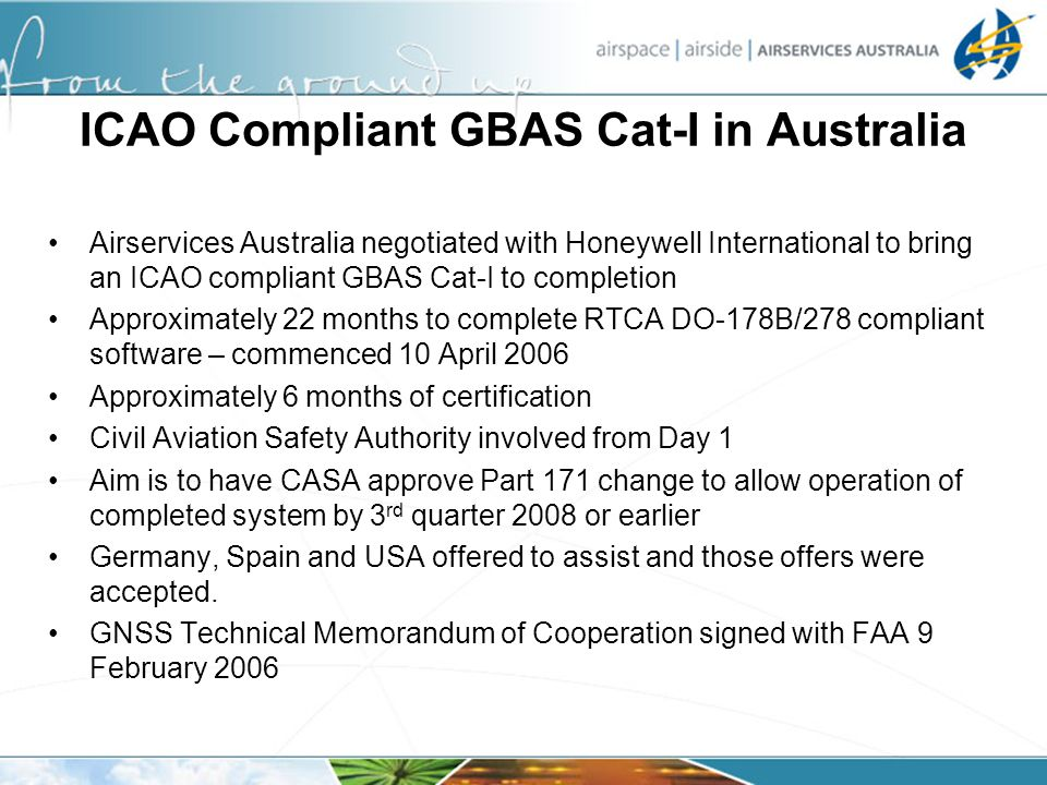 ICAO Compliant GBAS Cat-I in Australia