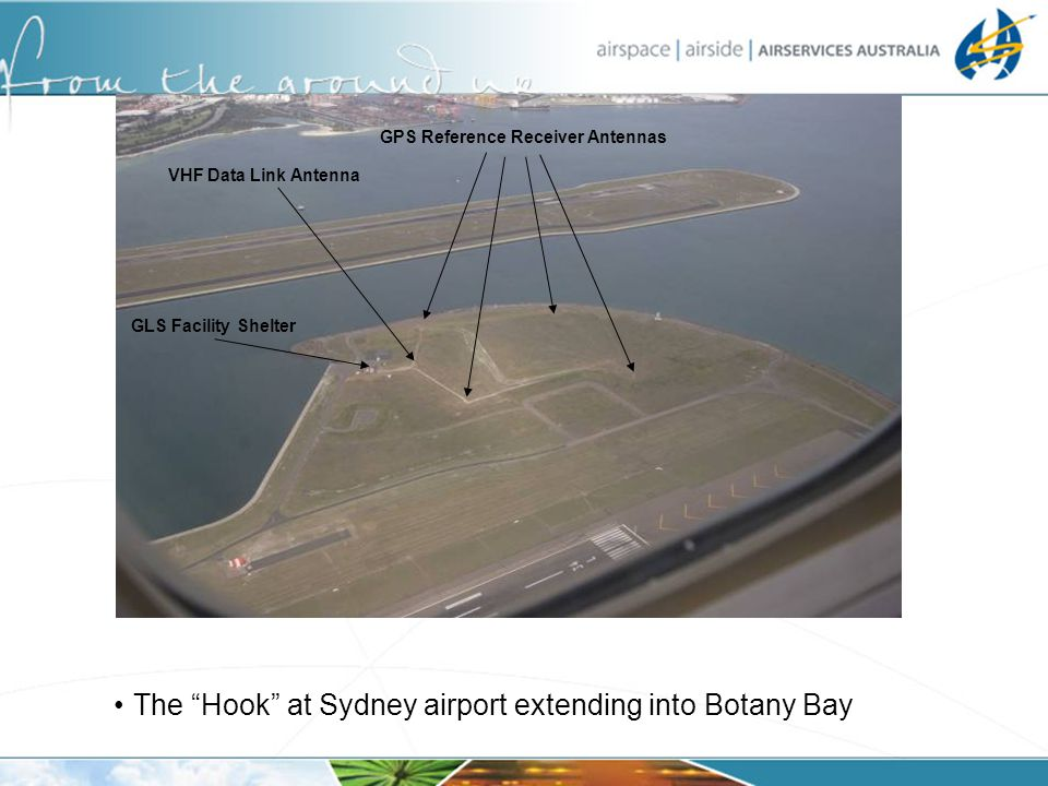 The Hook at Sydney airport extending into Botany Bay