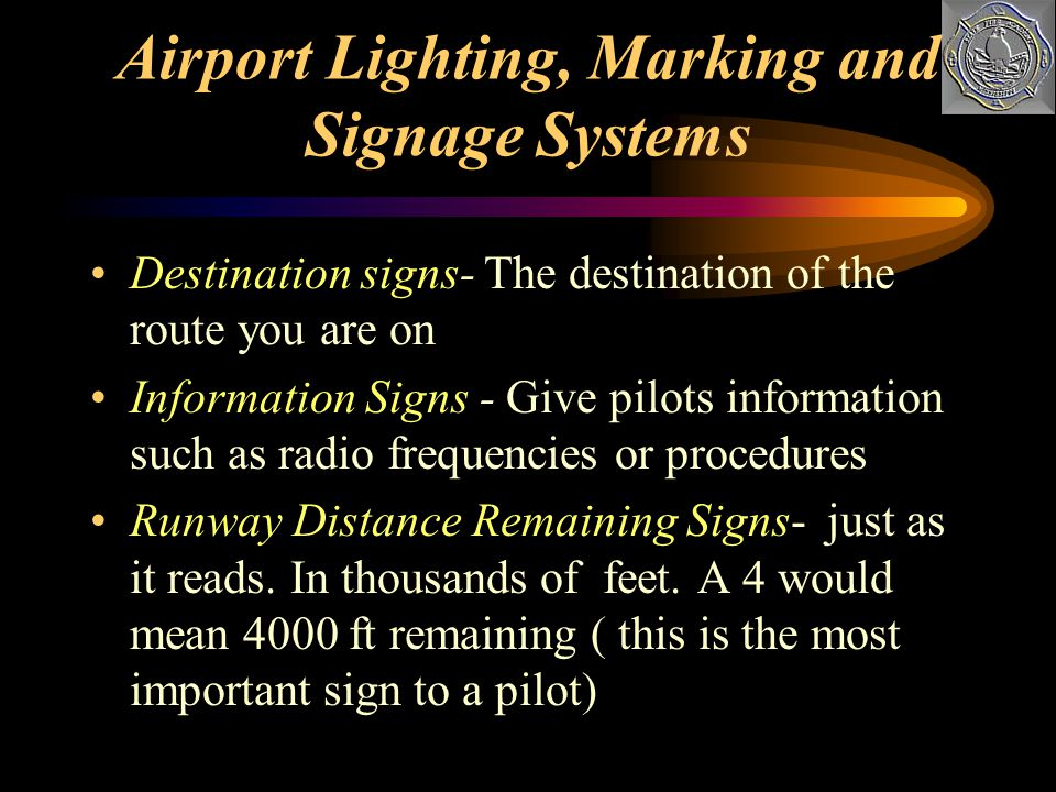 Airport Lighting, Marking and Signage Systems