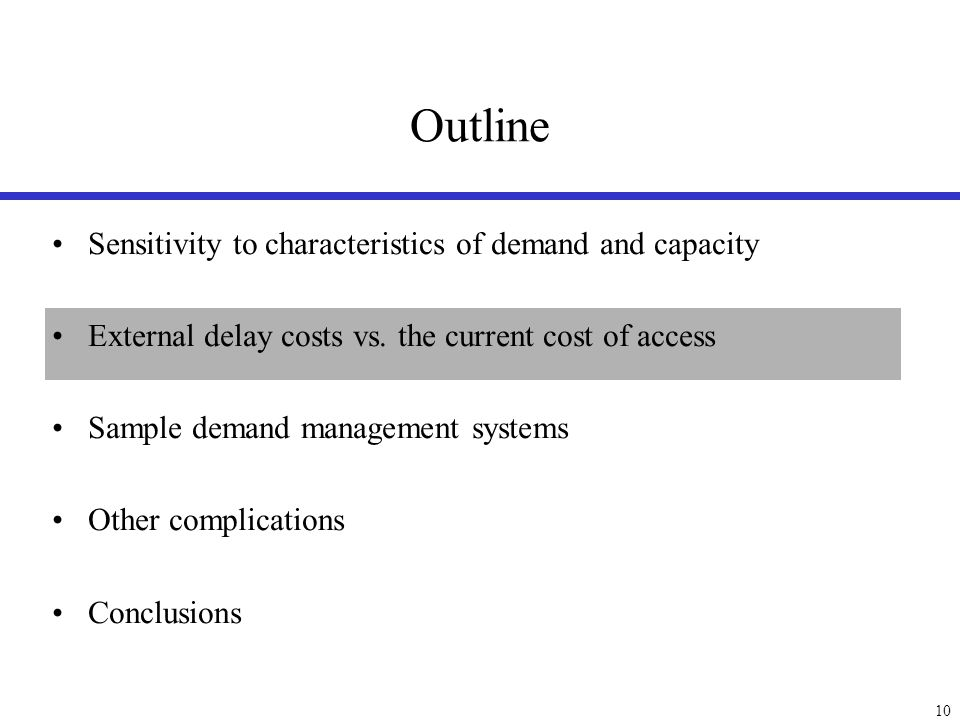 Marginal delay cost due to an additional operation