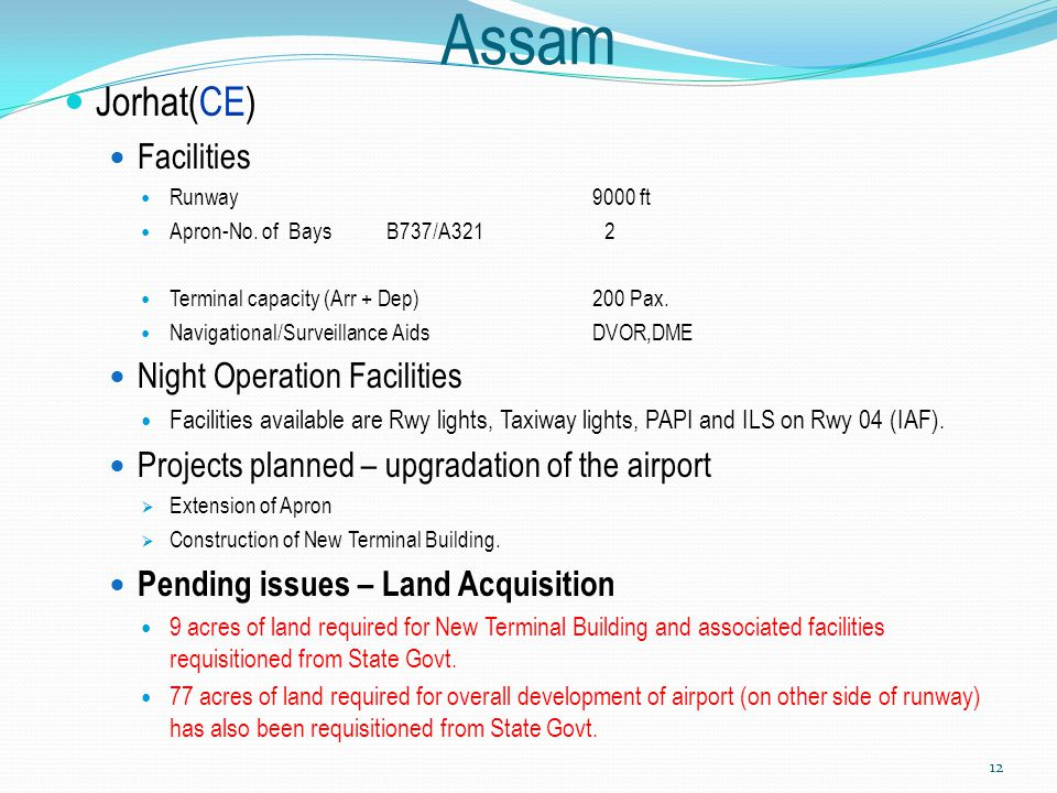 Assam Jorhat(CE) Facilities Night Operation Facilities