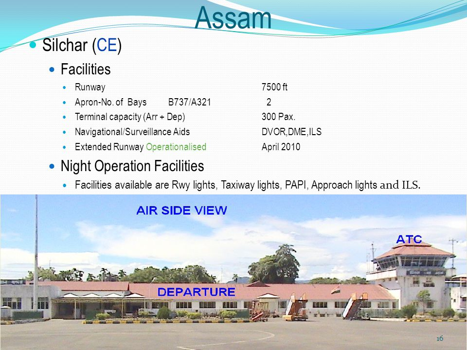 Assam Silchar (CE) Facilities Night Operation Facilities