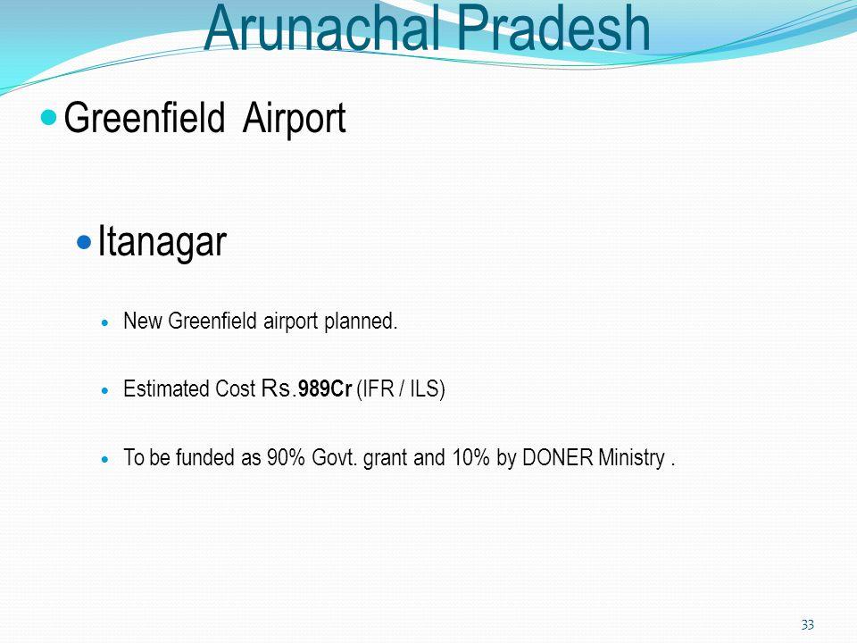 Arunachal Pradesh Greenfield Airport Itanagar