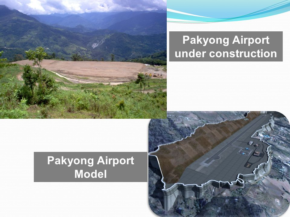 Pakyong Airport under construction