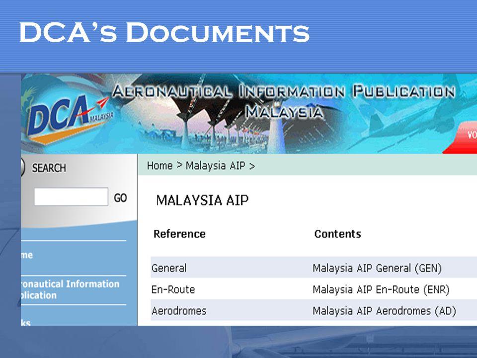 DCA's Documents
