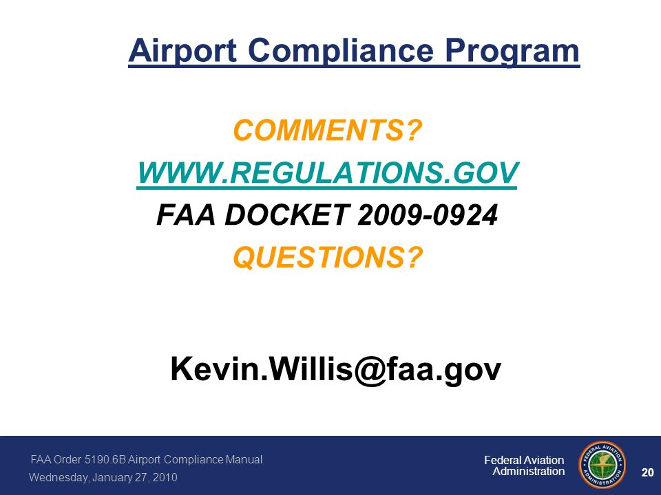 Airport Compliance Program