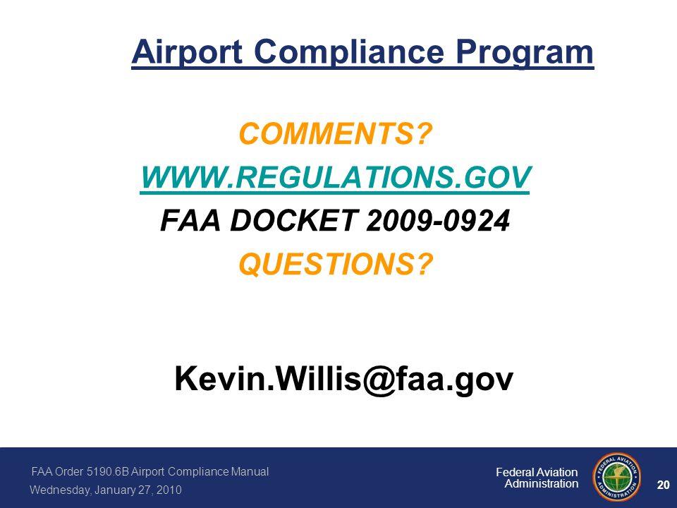 Airport Compliance Program
