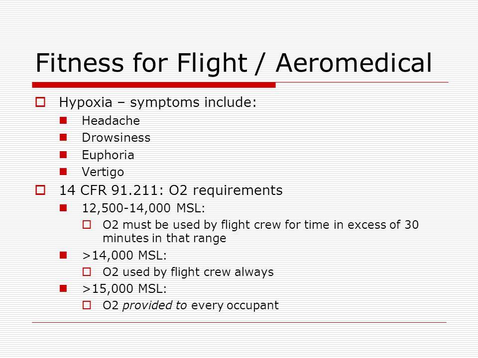 Fitness for Flight / Aeromedical