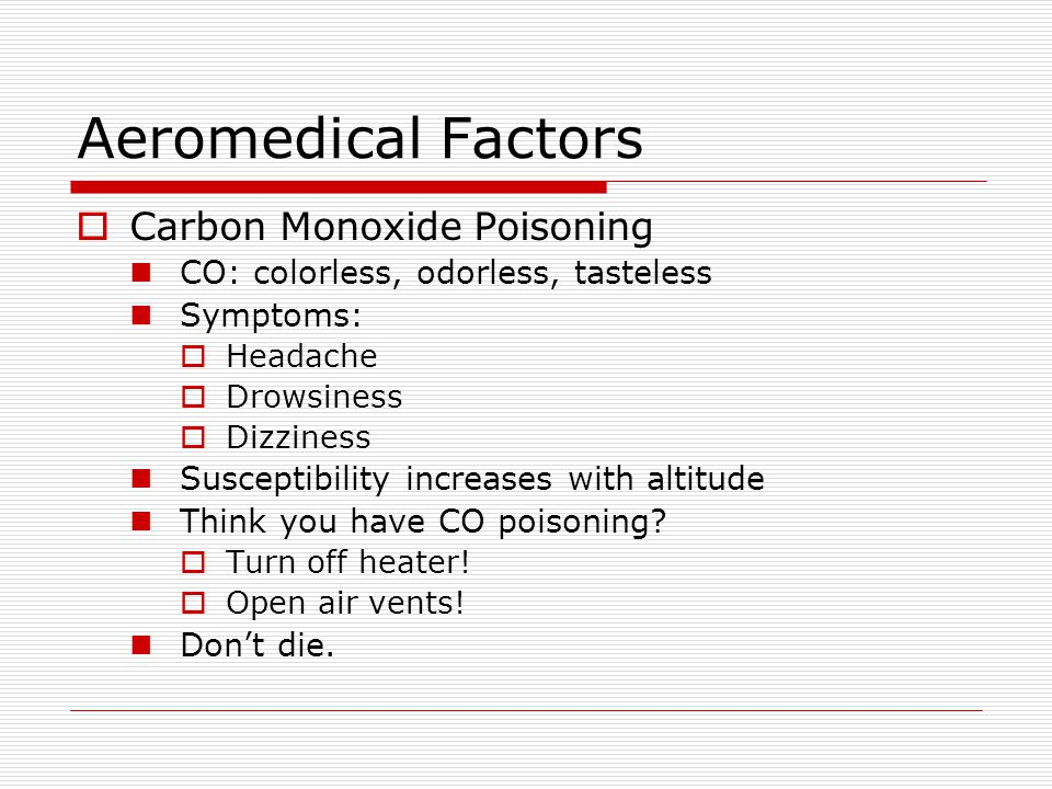 Aeromedical Factors Carbon Monoxide Poisoning