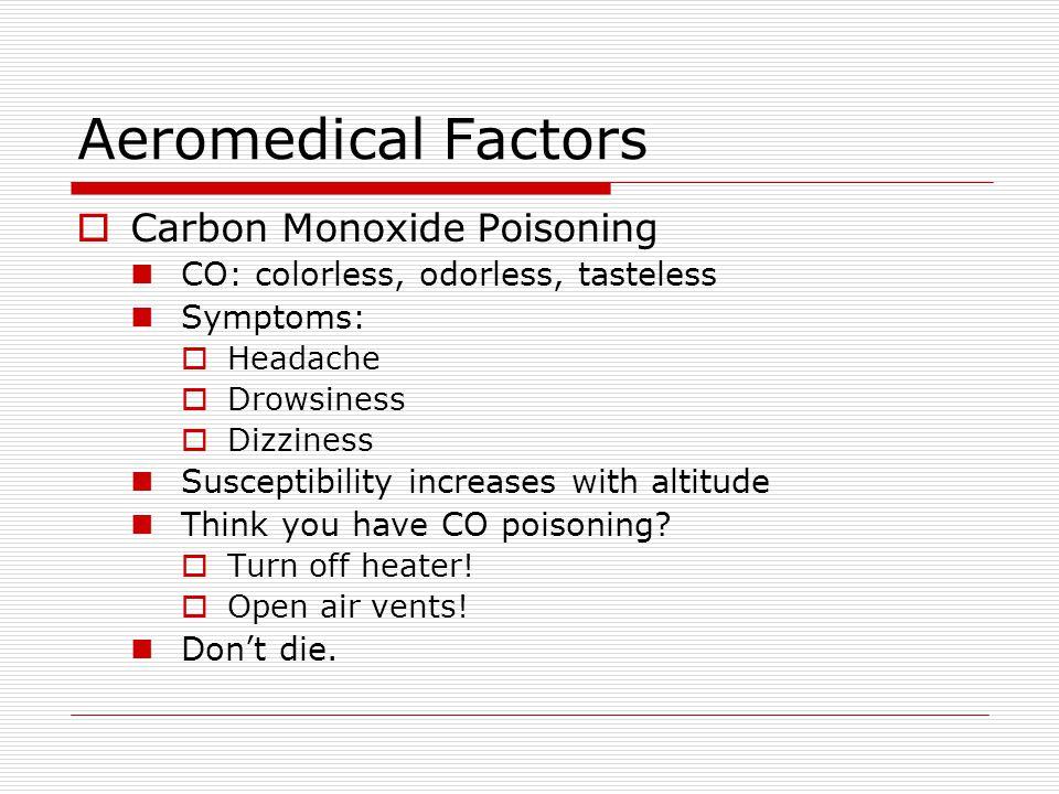 Aeromedical Factors Carbon Monoxide Poisoning